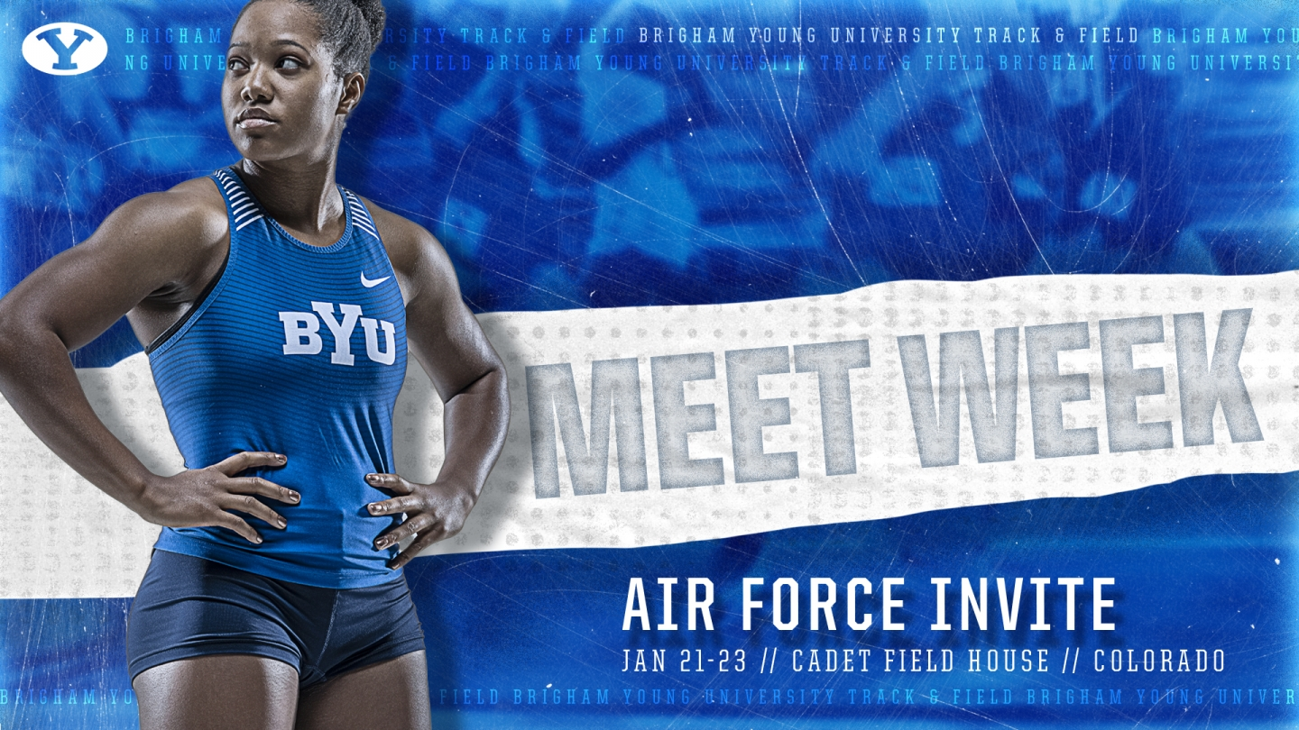 BYU track & field meet week graphic - Air Force Invite