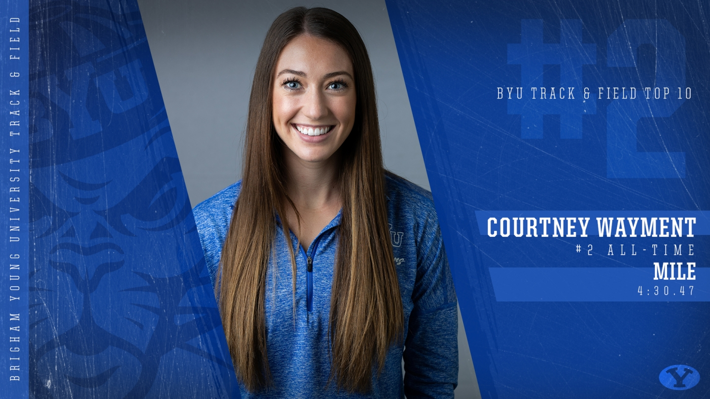 Courtney Wayment - BYU Top 10 Graphic