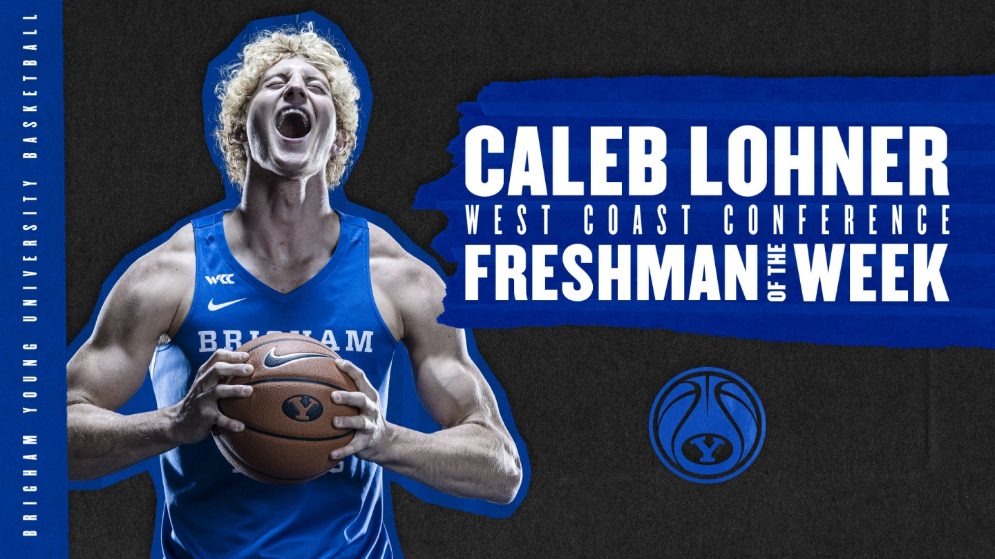 Caleb Lohner freshman of the week graphic