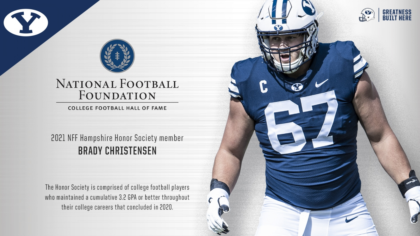 Brady Christensen named to NFF Hampshire Honor Society