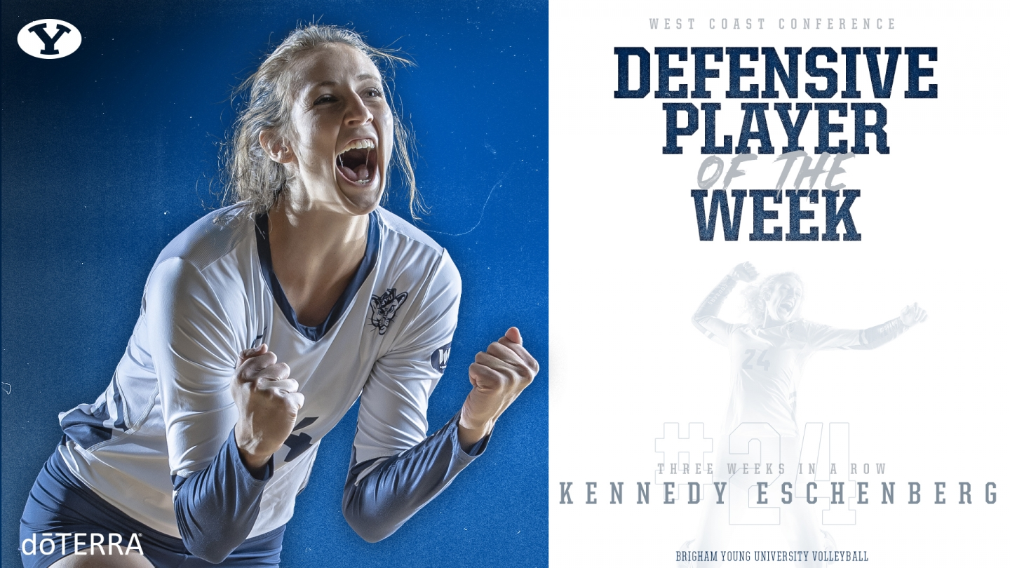 Kennedy Eschenberg - Defensive Player of the Week Graphic