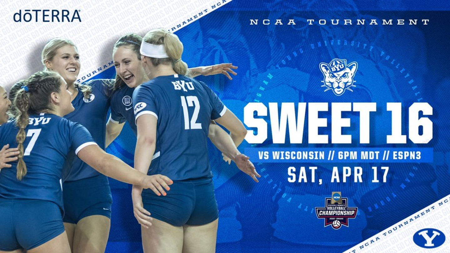 BYU WVB Sweet 16 Graphic