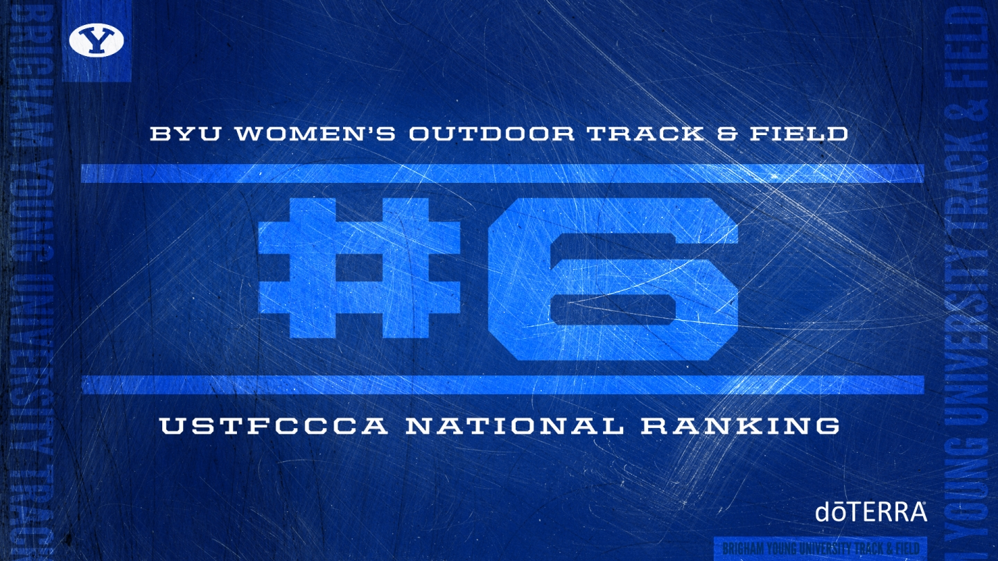 BYU track & field women's ranking graphic - No. 6