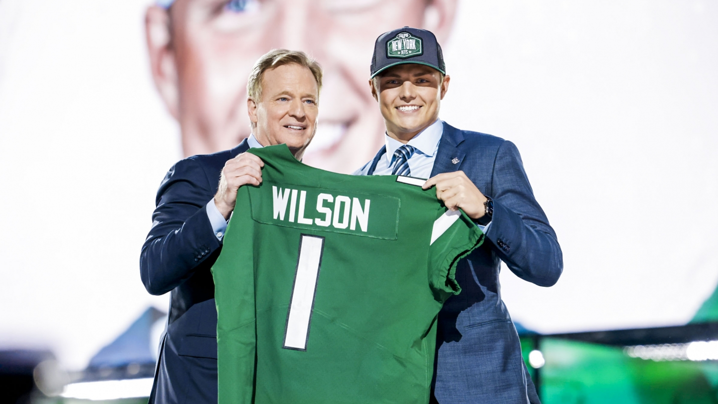 Zach Wilson at the 2021 NFL Draft