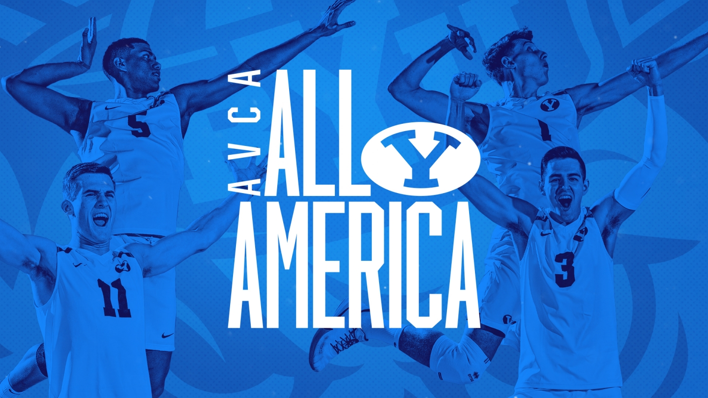 BYU men's volleyball four AVCA All-Americans - graphic