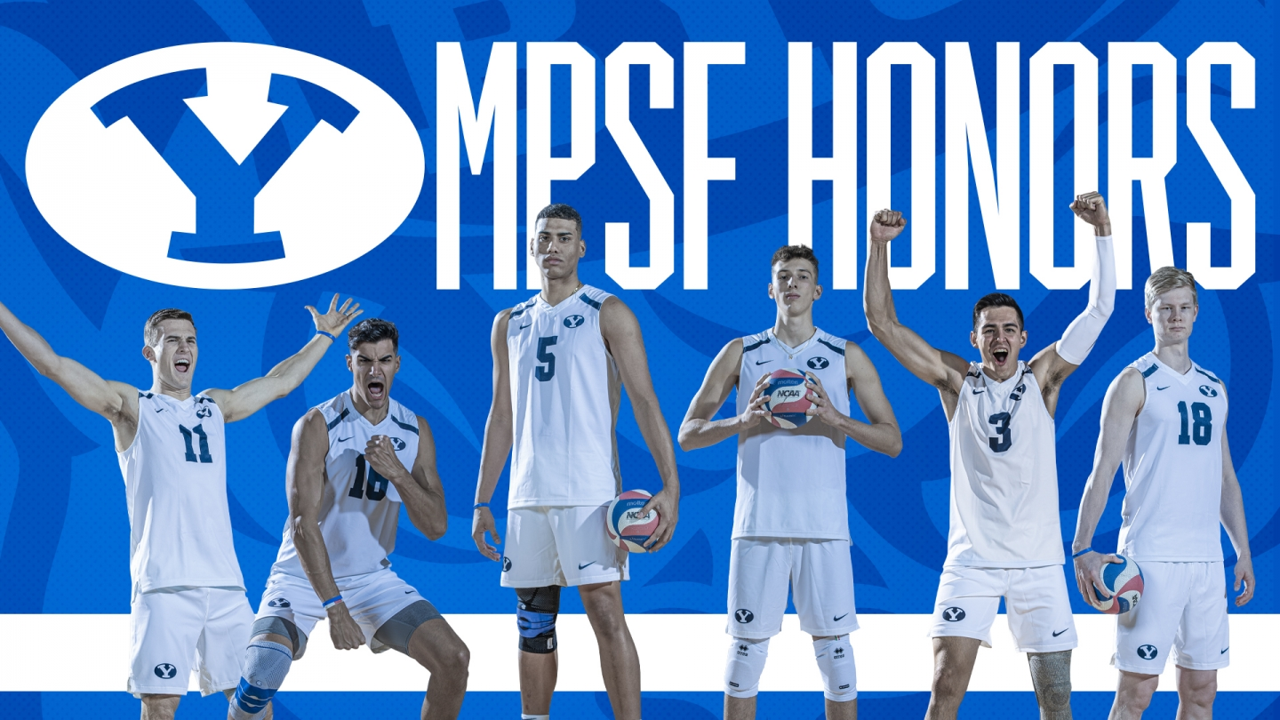 Six BYU men's volleyball players claimed 2020 All-MSPF Honors